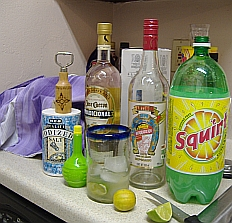 Mexican Tequila drink ingredients-Paloma (dove)