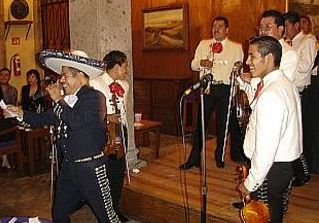 Mariachi band at Hotel Frances