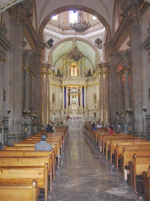 Inside La Basilica of Zapopan