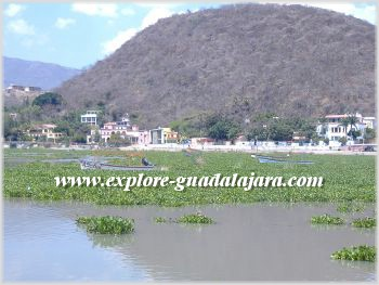 View from Lake Chapala during dry season