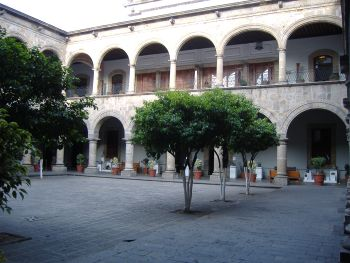 Palacio de Gobierno Patio in Guadalajara, Mexico