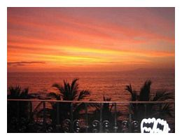 Sunset from a lovely rental by the beach in Puerto Vallarta