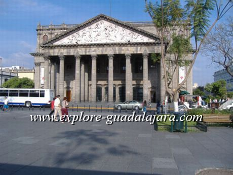 Degollado Theatre in downtown Gdl