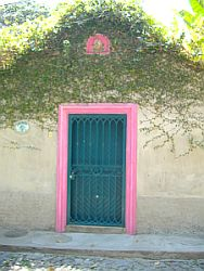 Pink door in Guadalajara, Mexico