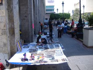 Vendors in Plaza Tapatia, Guadalajara, Mexico